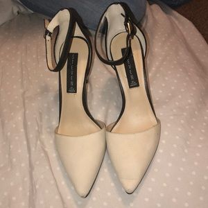 Steven by Steve Madden black and cream heels!